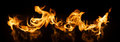 Fire Flames on black background Royalty Free Stock Photo