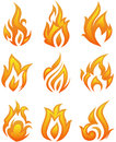 Fire flames - collage Royalty Free Stock Photos