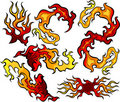 Fire and Flames Icon Ilustrations Royalty Free Stock Photography
