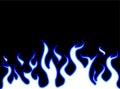 Fire Flames Style Carton  Blue