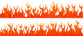 Fire flames vector set Royalty Free Stock Photo