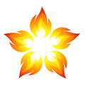 Fire flower Royalty Free Stock Photos