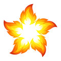 Fire flower Royalty Free Stock Image