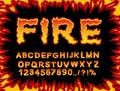 Fire Font. Flame Alphabet. Fie...