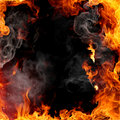 Fire frame Royalty Free Stock Photo