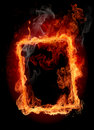 Fire frame Royalty Free Stock Image