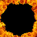 Fire Frame Background Royalty Free Stock Photo