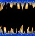 Fire frame isolated on black background Royalty Free Stock Images