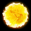 Fire globe planet Earth warming Royalty Free Stock Photo