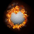 Fire Golf Ball Royalty Free Stock Photo