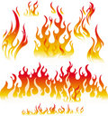 Fire graphic elements Royalty Free Stock Images