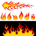 Fire graphics  vector Stock Images