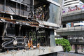Fire Gutted Shopping Mall in Bangkok Stock Photography