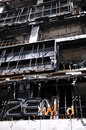 Fire Gutted Shopping Mall in Bangkok Stock Images