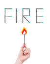 Fire hazard concept Royalty Free Stock Photo