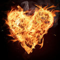 Fire heart. Royalty Free Stock Photography