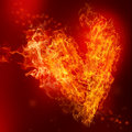 Fire Heart Stock Images
