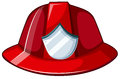 Fire helmet illustration of a on a white background Stock Image