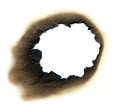 Fire hole or burn mark with details Royalty Free Stock Photos