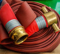 Fire hose cable Royalty Free Stock Photo