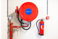 Fire hose reel Royalty Free Stock Photo