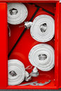 Fire hoses Royalty Free Stock Photos