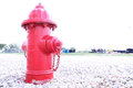 Fire hydrant a amidst rocks Royalty Free Stock Image
