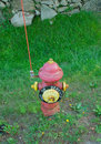 Fire hydrant broken out of service Royalty Free Stock Photos