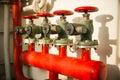 Fire hydrant manifold Royalty Free Stock Photo