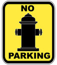 Fire hydrant - no parking Stock Photography
