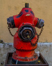 Fire hydrant red closeup macro detail Royalty Free Stock Images