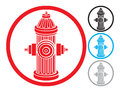 Fire hydrant symbol icon Royalty Free Stock Photography