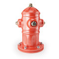 Fire hydrant on white background d render Royalty Free Stock Photos