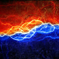 Fire and ice lightning Royalty Free Stock Photo