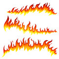 Fire icons illustration of different isolated elements Stock Photo