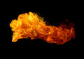Fire isolated on black background Royalty Free Stock Photo