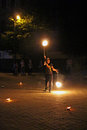 Fire juggler Royalty Free Stock Photo