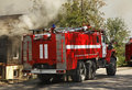 Fire in kungur perm krai russia Stock Photos