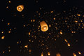 Fire lantern festival Royalty Free Stock Photo