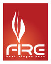 Fire logo concept vector template depicting a suitable for business that sells fireplaces lighters products that use Royalty Free Stock Photo