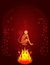 Fire Monkey silhouette