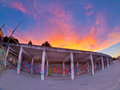 Fire mural by the sunset in bariloche patagonia argentina Royalty Free Stock Images