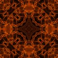 Fire pattern black background with bright abstract Stock Photography
