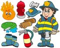 Fire protection collection Royalty Free Stock Image