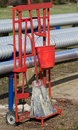 Fire protection equipment in oil and gas industry Stock Photo