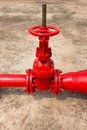 Fire protection main valve. Royalty Free Stock Photo