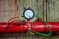 Fire pump test meter and fire pipe