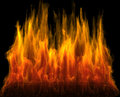 Fire of red and orange color Royalty Free Stock Image