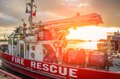Fire rescue ship Royalty Free Stock Photo