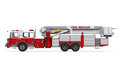 Fire rescue truck on white background d render Stock Images